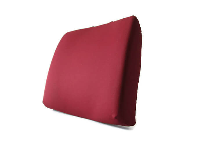 Back-Eeze™ Slim – Back Support Cushion Burgundy