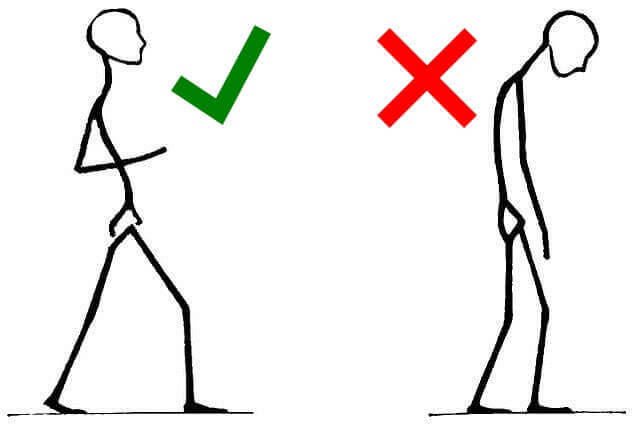 How to recover from back pain - walk with correct posture